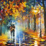 Autumn Hugs Palette Knife Oil Painting Canvas Leonid
