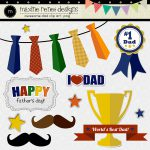 Awesome Dad Digital Papers Clip Art Maxine Rene
