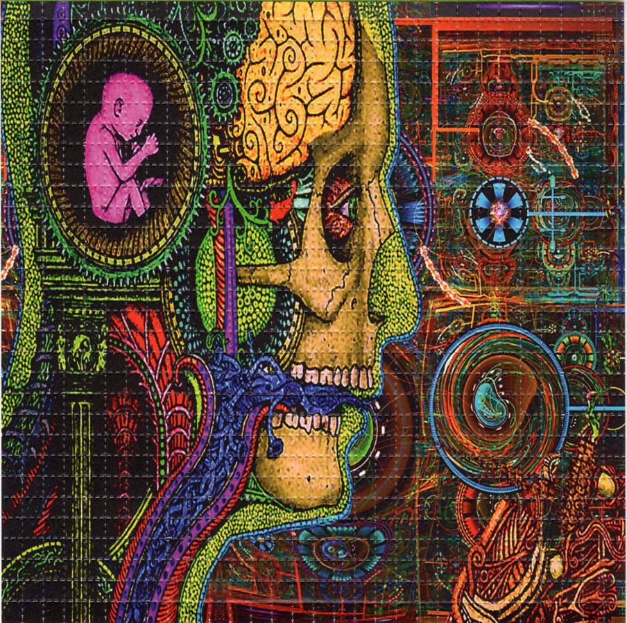 Baby Brain Perforated Sheet Book Blotter Art Psychedelic Acid Lsd Artwork Paper