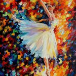 Ballet Palette Knife Oil Painting Canvas Leonid