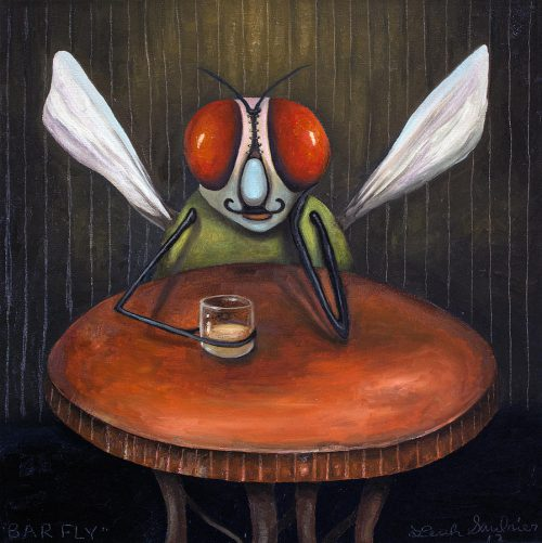Bar Fly Painting Leah Saulnier
