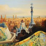 Barcelona Park Guell Painting Kiril