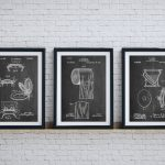 Bathroom Art Patent Posters Group Wall