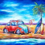 Beach Bug Painting Deb