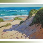 Beach Oil Painting Impressionist Sand Dunes Surf Linen Canvas Ocean Seascape