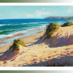 Beach Painting Seascape Oil Canvas Ocean Surf Sand Dunes Impressionist Artworkno