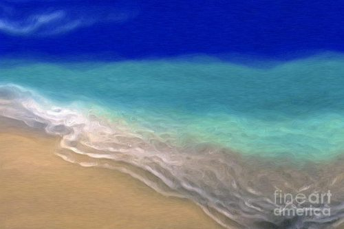 Beach Scene Abstract Ocean Art Painting Mark