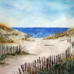 Beach Shore Print Original Watercolor Painting