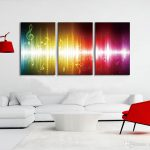 Beating Music Notes Canvas Wall Art Paintings Colorful Abstract Artwork