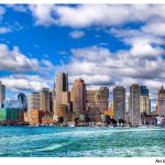 Beautiful Boston Skyline Harbor Art