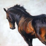 Beautiful Equine Horse Art Dressage Movement Based