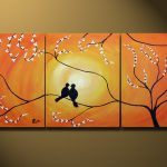 Beautiful Love Birds Painting