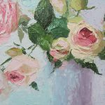 Beautiful Roses Oil Palette Knife Painting Chris
