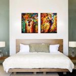 Bedroom Decorated Knife Paint Landscape Abstract Modern Cuadros Canvas Prints Wall