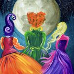 Beginners Learn Paint Acrylic Art Lesson Sanderson Sisters Hocus