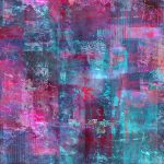 Berry Pink Purple Blue Abstract Painting Lee Ann