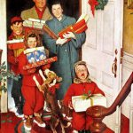Best Norman Rockwell Christmas Vintage Art All