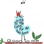 Bible Verse Print Singing Bird Inspirational