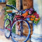 Bicycle Flowers Painting Ganna