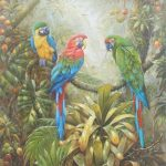 Bird Paintings Famous Ists Best Parrot Oil Canvas Amoy