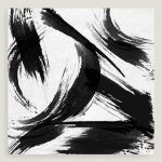 Black White Abstract Canvas Wall Art World