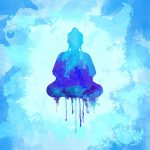 Blue Buddha Watercolor Painting