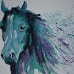 Blue Horse Painting Antje