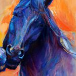 Blue Horse Painting Boyan