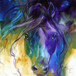 Blue Roan Abstract Marcia