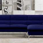 Blue Sectional Sofa Chaise Navy Living Room Transitional