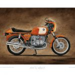 Bmw Motorcycle Art Print Steve