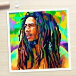 Bob Marley Reggae Painting Poster Canvas Art Print Rolled