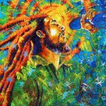 Bob Marley Tribute Painting Jose Miguel