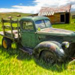 Bodie Ghost Town Old Truck Painting Gregory
