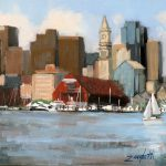 Boston Harbor Painting Laura Lee