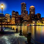 Boston Harbor Skyline Painting Massachusetts James