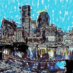 Boston Skyline Painting Dean