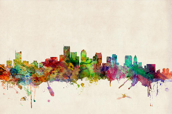 Boston Skyline Print Michael