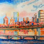 Boston Skyline Wicked Art
