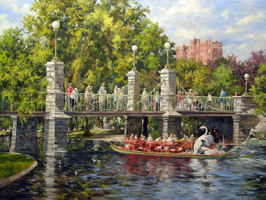 Boston Swan Boat Painting Gary