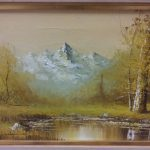 Bought Painting Goodwill Store Mountain Artifact