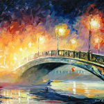 Bridge Palette Knife Oil Painting Canvas Leonid