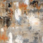 Brown Beige Abstract Art Painting Home