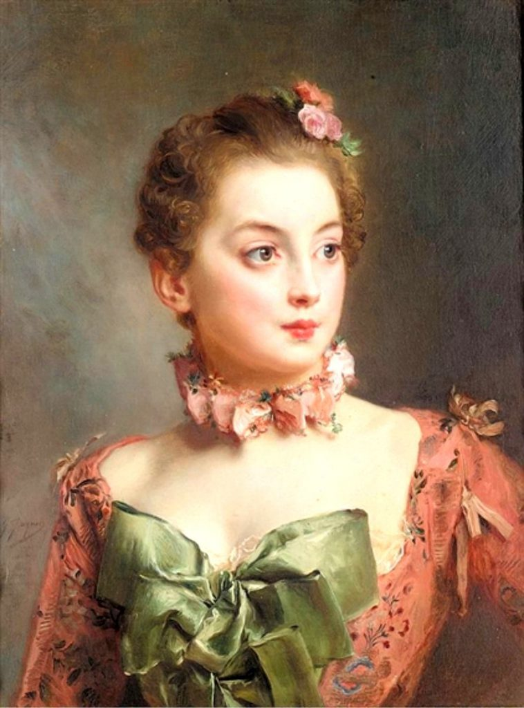 Bumble Button Marie Antoinette Portraits Beautifully Clothed Women Circa