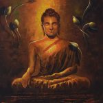 Buy Painting Buddha Reflection Artwork Indian Artist Kamal