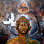 Buy Painting Peaceful Buddha Artwork Indian Artist Arjun
