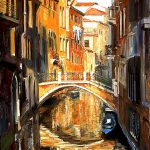 Canals Venice Italy Painting Larisa