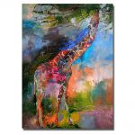Canvas Framed Oil Painting Modern Abstract Hand Piante Wall Art