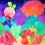 Canvas Painting Super Mario Odyssey Link Video