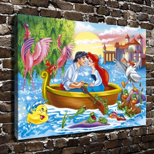 Canvas Print Art Painting Frame Disney Little Mermaid